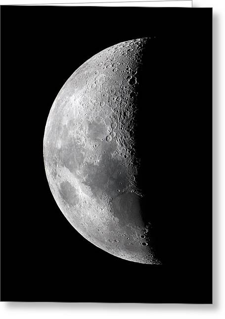 Seven Days Greeting Cards - Waxing Crescent Moon Greeting Card by John Sanford