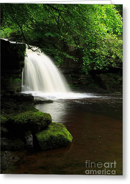 West Yorkshire Greeting Cards - West Burton Falls in Wensleydale Greeting Card by Louise Heusinkveld