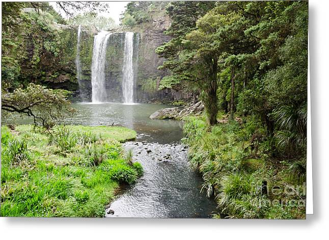 Sardinelly Greeting Cards - Whangarei Falls in New Zealand Greeting Card by Yurix Sardinelly