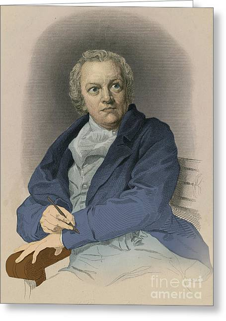 Print Making Greeting Cards - William Blake, English Poet And Painter Greeting Card by Photo Researchers