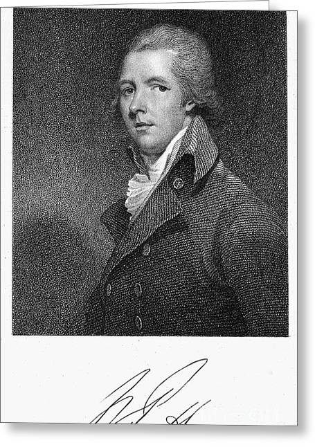 Autograph Greeting Cards - William Pitt (1759-1806) Greeting Card by Granger