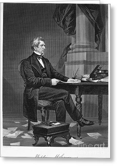 Autograph Greeting Cards - William Seward (1801-1872) Greeting Card by Granger