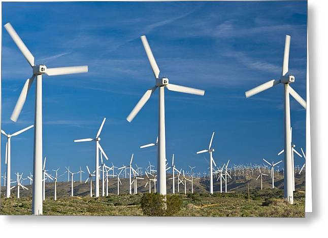 Generators Greeting Cards - Wind Turbines Greeting Card by David Nunuk