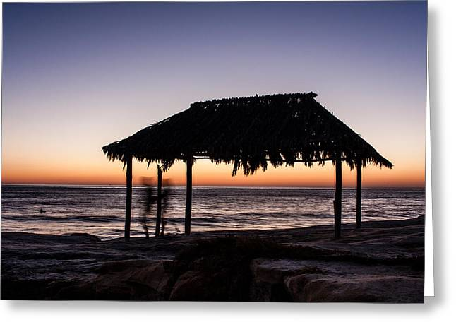 Windansea Beach Hut One Greeting Card by Josh Whalen