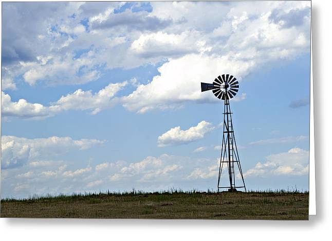 Recently Sold -  - Generators Greeting Cards - Windmill Greeting Card by Malania Hammer