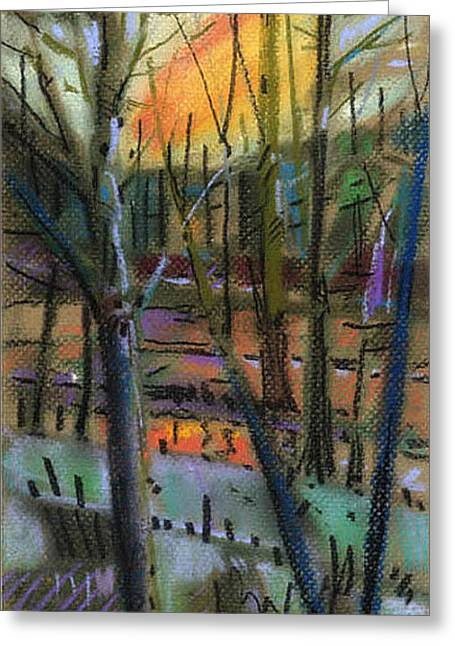 Sunset Abstract Greeting Cards - Winter Solstice Greeting Card by Donald Maier