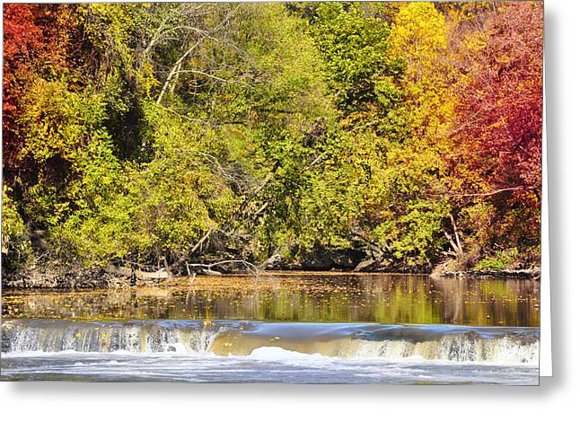 Wissahickon Creek Greeting Cards - Wissahickon Autumn Greeting Card by Bill Cannon