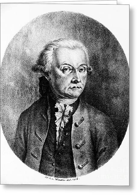 Concerto Greeting Cards - Wolfgang Amadeus Mozart, Austrian Greeting Card by Photo Researchers, Inc.