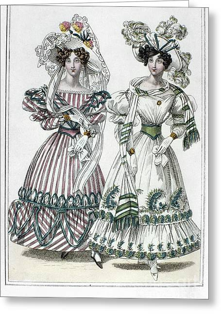Evening Dress Greeting Cards - Womens Fashion, 1828 Greeting Card by Granger
