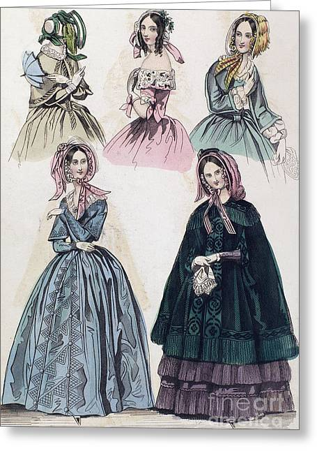 1842 Photographs Greeting Cards - Womens Fashion, 1842 Greeting Card by Granger