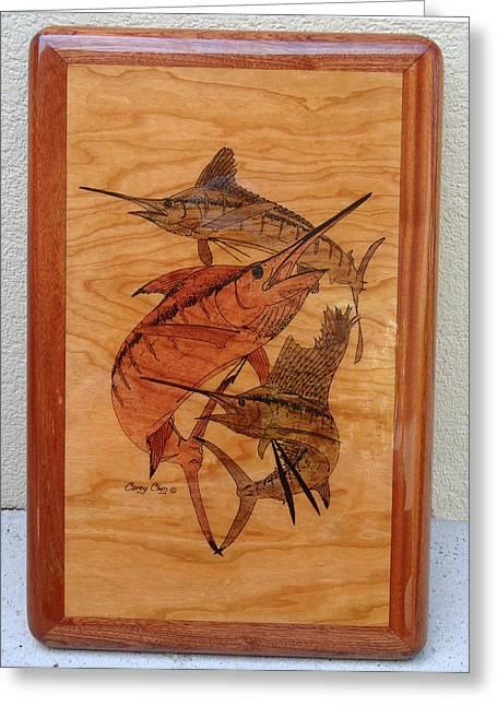 Jarrett Greeting Cards - Wood work furniture Greeting Card by Carey Chen