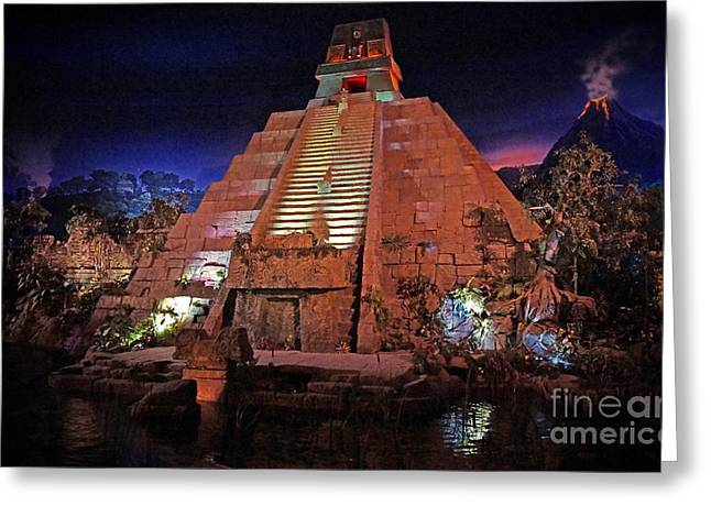 World Showcase Greeting Cards - World Showcase - Mexico Pavillion Greeting Card by AK Photography