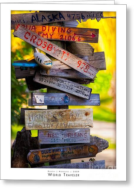 Coco Cay Greeting Cards - World Traveler Greeting Card by Doug Sturgess