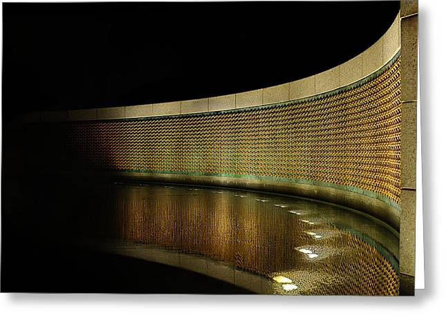 Wwii Photographs Greeting Cards - World War II Memorial - Stars Greeting Card by Metro DC Photography