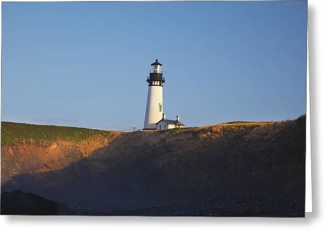 Oregon Lighthouse Image Greeting Cards - Yaquina Head Lighthouse Newport Oregon Greeting Card by Craig Tuttle