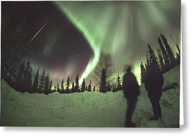 Observer Photographs Greeting Cards - Aurora Borealis Greeting Card by Chris Madeley