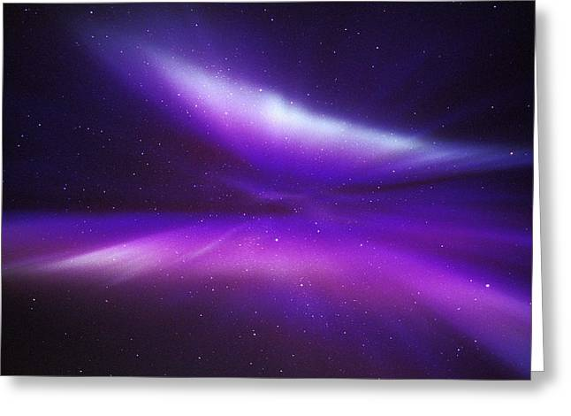 Northern Pole Star Greeting Cards - Aurora Borealis Greeting Card by Pekka Parviainen