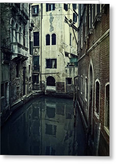Venetian Balcony Greeting Cards - Venezia Greeting Card by Joana Kruse