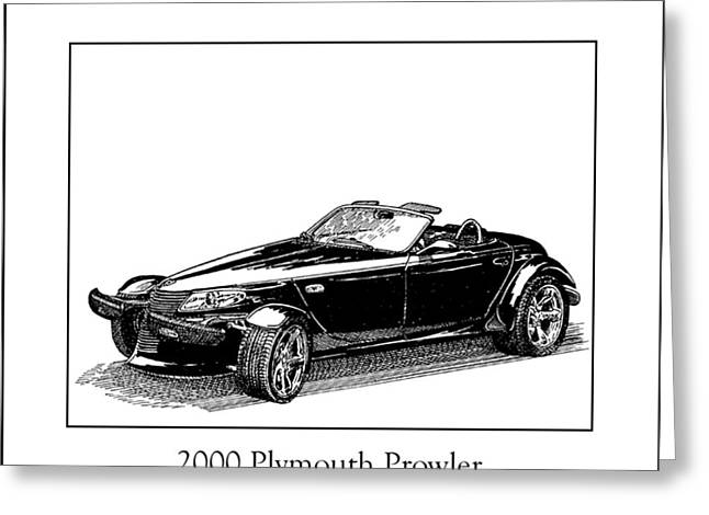 Pen And Ink Framed Prints Greeting Cards - 2000 Plymouth Prowler Greeting Card by Jack Pumphrey