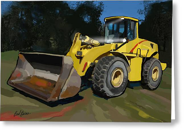 Happy Man Greeting Cards - 2005 New Holland LW230B Wheel Loader Greeting Card by Brad Burns