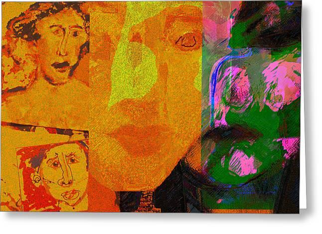 Ambition Mixed Media Greeting Cards - 2010 Charter Greeting Card by Noredin Morgan