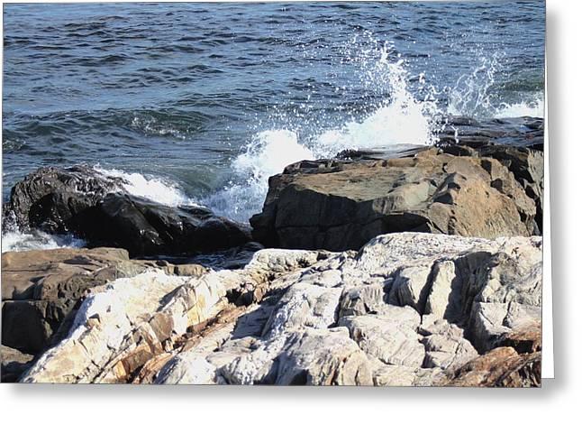 Atlantic Beaches Pyrography Greeting Cards - 2010 NH Seacoast 3 Greeting Card by Robert Morin