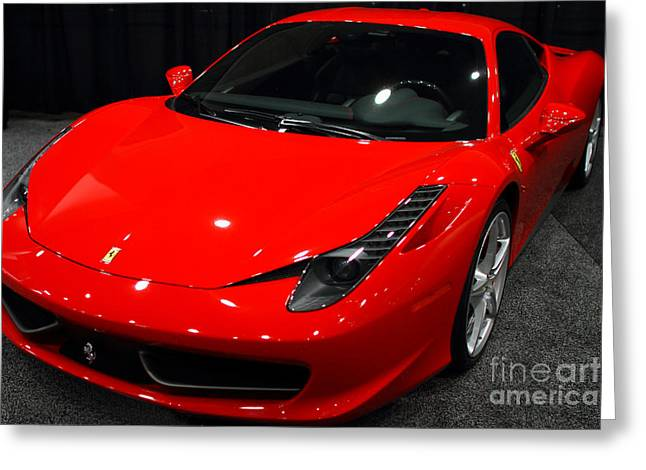 Wingsdomain Greeting Cards - 2011 Ferrari 458 Italia . 7D9397 Greeting Card by Wingsdomain Art and Photography