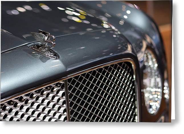 2012 Digital Art Greeting Cards - 2012 Bentley Mulsanne Hood Ornament Greeting Card by Gordon Dean II