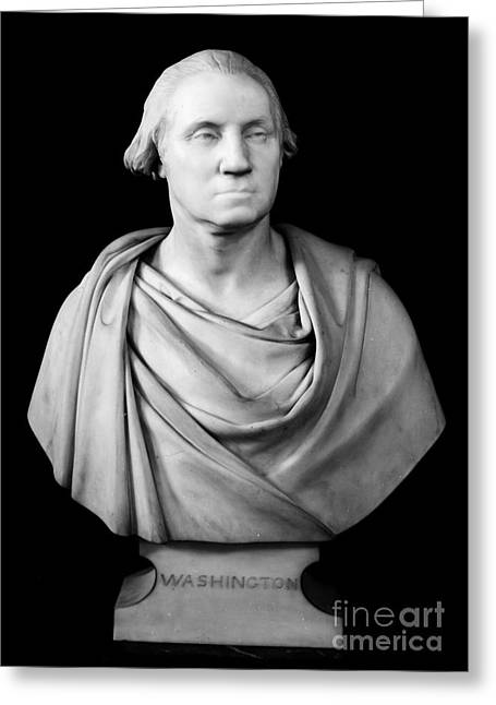 Statue Portrait Greeting Cards - George Washington Greeting Card by Granger