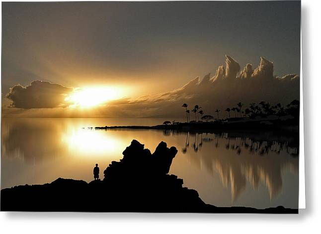 Sunset Seascape Greeting Cards - 205 Greeting Card by Peter Holme III