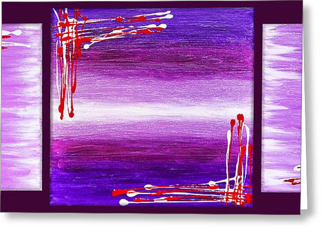 Purple Abstract Greeting Cards - 207917-24-27 Greeting Card by Svetlana Sewell