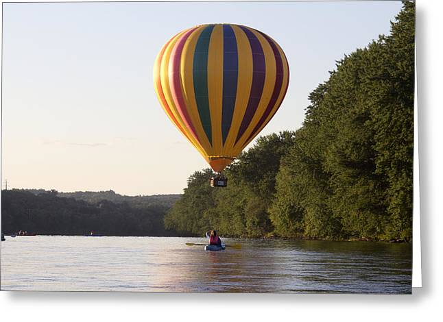 Androscoggin Greeting Cards - 20th Great Falls Balloon Festival Greeting Card by Jim Walker
