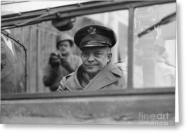Western Front Greeting Cards - Dwight D. Eisenhower Greeting Card by Granger