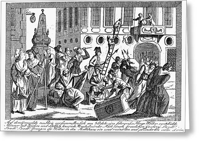 Plunder Greeting Cards - French Revolution, 1789 Greeting Card by Granger