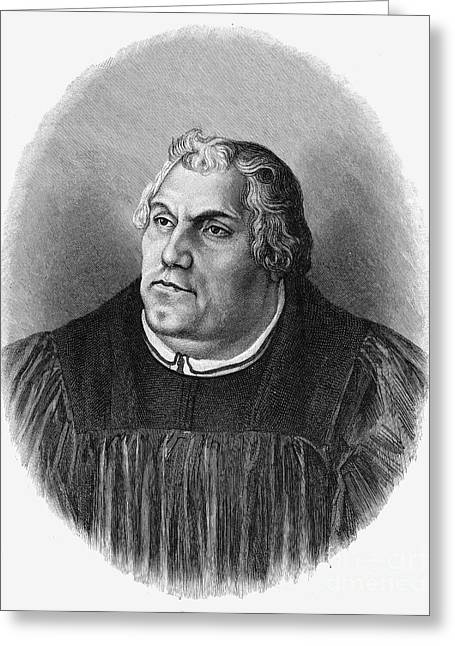 Reformer Photographs Greeting Cards - Martin Luther (1483-1546) Greeting Card by Granger