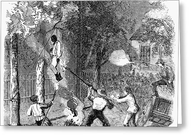 NEW YORK: DRAFT RIOTS 1863 Greeting Card by Granger