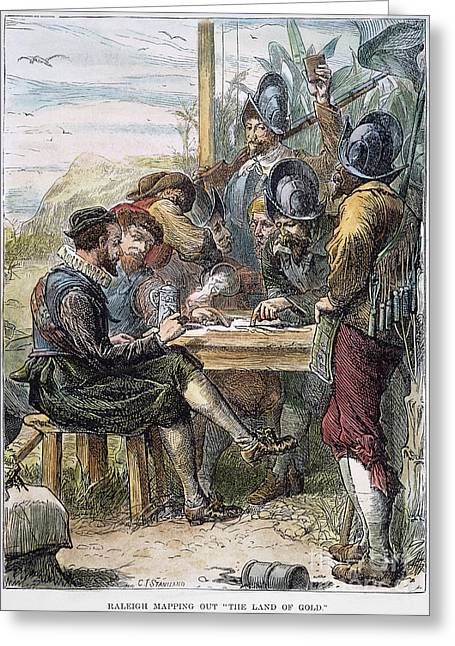 1596 Greeting Cards - Sir Walter Raleigh Greeting Card by Granger