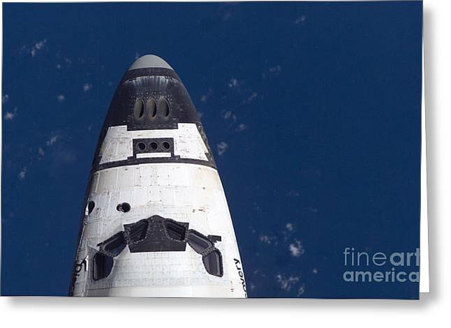 Surveying Greeting Cards - Space Shuttle Discovery Greeting Card by Nasa