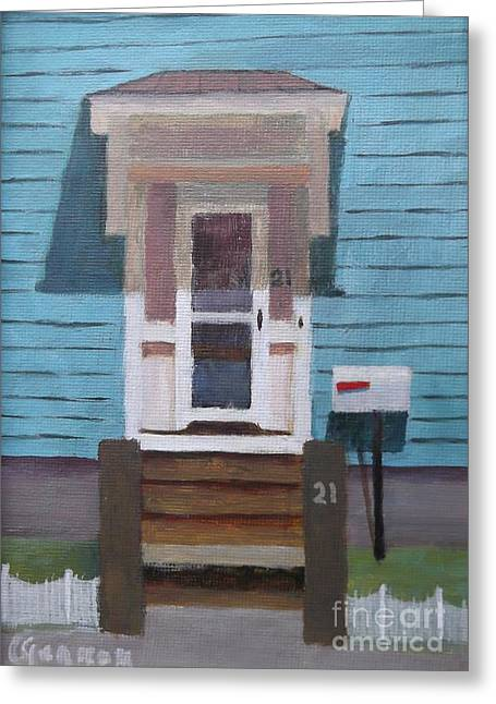 21 Wonson St Greeting Card by Claire Gagnon