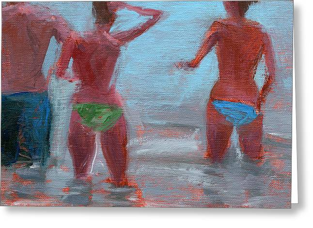 Surf City Greeting Cards - RCNpaintings.com Greeting Card by Chris N Rohrbach