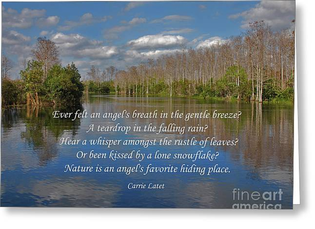 Angels Breath Greeting Cards - 22- An Angels Breath Greeting Card by Joseph Keane