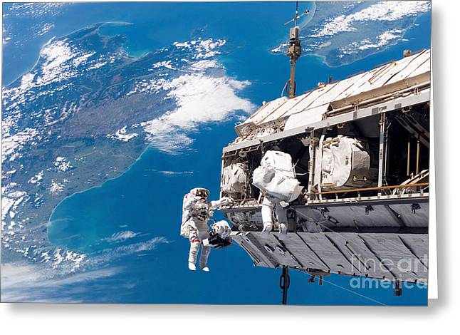 Stocktrek Images - Greeting Cards - Astronauts Participate Greeting Card by Stocktrek Images