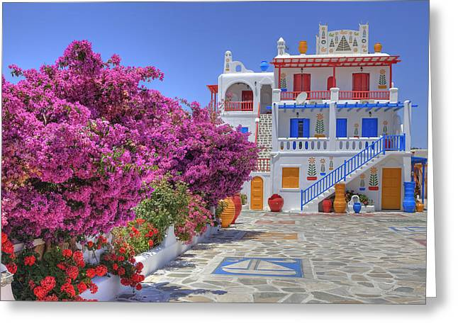 Greece Photographs Greeting Cards - Mykonos Greeting Card by Joana Kruse