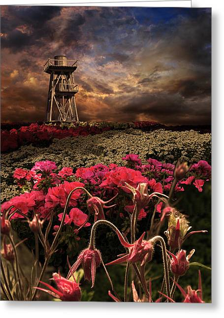 Watertower Greeting Cards - 2258 Greeting Card by Peter Holme III