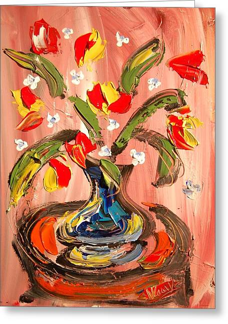 Fine Art Prints Framed Prints Greeting Cards - Tulips Greeting Card by Mark Kazav
