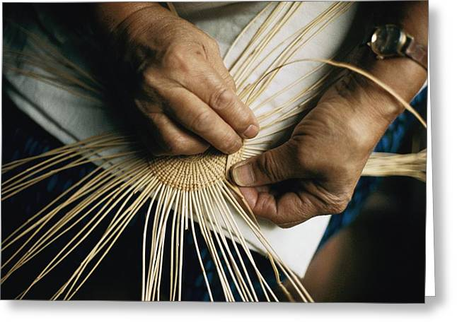 Basketmaking Greeting Cards - Untitled Greeting Card by Dick Durrance Ii