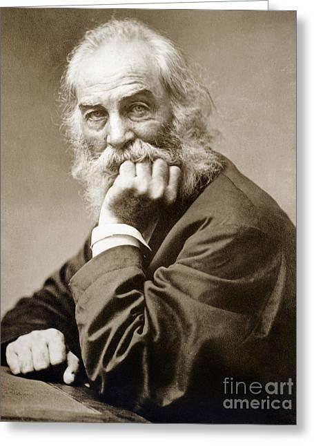 1876 Greeting Cards - Walt Whitman (1819-1892) Greeting Card by Granger