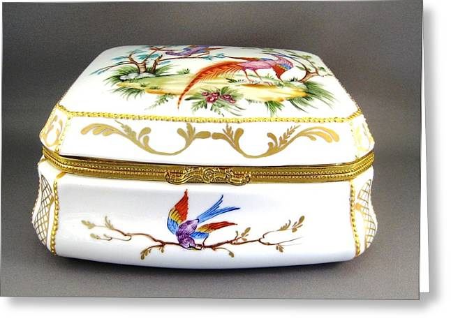 Style Ceramics Greeting Cards - 237 Chelsea Bird Box Greeting Card by Wilma Manhardt