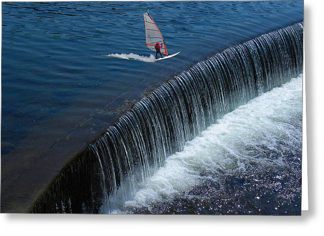 Wind Surfer Greeting Cards - 2372 Greeting Card by Peter Holme III
