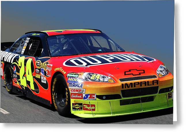 Jeff Gordon Greeting Cards - 24 Greeting Card by Bill Dutting